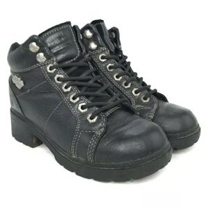 Harley Davidson Boots Tyler Ankle Motorcycle Black